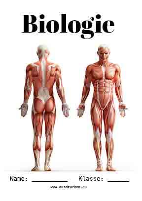 Biologie Deckblatt Mensch