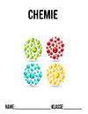 Chemie Deckblatt mit Atomen