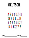 Deutsch Deckblatt Alphabet