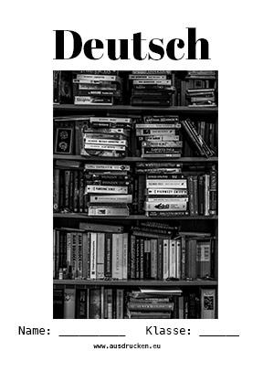 Deutsch Deckblatt Literatur