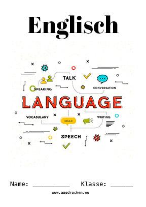Englisch Deckblatt Vokabeln Englisch Deckblätter