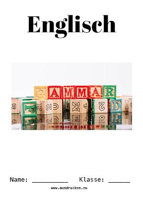 Englisch Deckblatt Grammatik