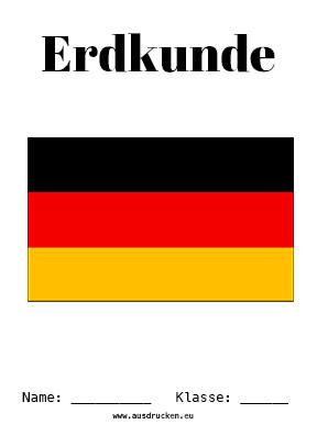 Erdkunde Deckblatt Deutschland