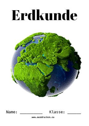 Erdkunde Deckblatt Erde