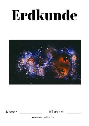Erdkunde Deckblatt Planeten