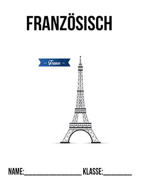 Hier kannst du dir jetzt dein gesuchtes Deckblatt Französisch Mappe schnell und einfach erstellen und kostenlos ausdrucken. Mit deinem persönlichen Deckblatt für deine Hefter, Schulordner und Mappen bist du super organisiert und behältst stehst den Überblick.