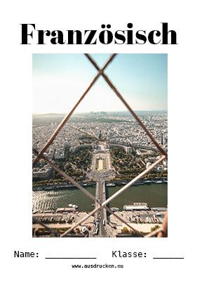 Französisch Deckblatt Paris