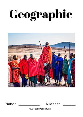 Hier kannst du dir jetzt dein gesuchtes Geographie Deckblatt Afrika schnell und einfach erstellen und kostenlos ausdrucken. Mit deinem persönlichen Deckblatt für deine Hefter, Schulordner und Mappen bist du super organisiert und behältst stehst den Überblick.