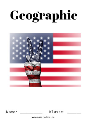 Hier kannst du dir jetzt dein gesuchtes Geographie Deckblatt Amerika schnell und einfach erstellen und kostenlos ausdrucken. Mit deinem persönlichen Deckblatt für deine Hefter, Schulordner und Mappen bist du super organisiert und behältst stehst den Überblick.