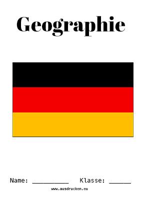 Geographie Deckblatt Deutschland