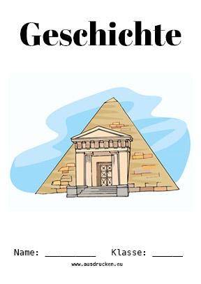 Hier kannst du dir jetzt dein gesuchtes Geschichte Deckblatt Pyramiden schnell und einfach erstellen und kostenlos ausdrucken. Mit deinem persönlichen Deckblatt für deine Hefter, Schulordner und Mappen bist du super organisiert und behältst stehst den Überblick.