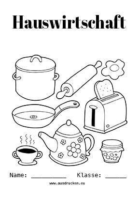 Hauswirtschaft Deckblatt Hauswirtschaftslehre