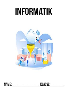 Hier kannst du dir jetzt dein gesuchtes Informatik Deckblätter schnell und einfach erstellen und kostenlos ausdrucken. Mit deinem persönlichen Deckblatt für deine Hefter, Schulordner und Mappen bist du super organisiert und behältst stehst den Überblick.
