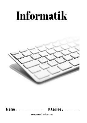 Hier kannst du dir jetzt dein gesuchtes Informatik Deckblatt Computer schnell und einfach erstellen und kostenlos ausdrucken. Mit deinem persönlichen Deckblatt für deine Hefter, Schulordner und Mappen bist du super organisiert und behältst stehst den Überblick.