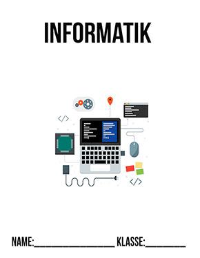 Hier kannst du dir jetzt dein gesuchtes Informatik Deckblatt Klasse 7 schnell und einfach erstellen und kostenlos ausdrucken. Mit deinem persönlichen Deckblatt für deine Hefter, Schulordner und Mappen bist du super organisiert und behältst stehst den Überblick.