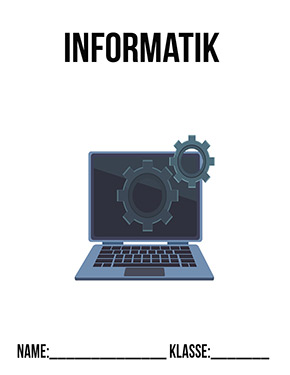 Hier kannst du dir jetzt dein gesuchtes Informatik Deckblatt Klasse 9 schnell und einfach erstellen und kostenlos ausdrucken. Mit deinem persönlichen Deckblatt für deine Hefter, Schulordner und Mappen bist du super organisiert und behältst stehst den Überblick.