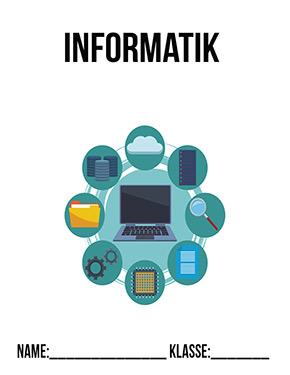 Hier kannst du dir jetzt dein gesuchtes Informatik Deckblatt Muster schnell und einfach erstellen und kostenlos ausdrucken. Mit deinem persönlichen Deckblatt für deine Hefter, Schulordner und Mappen bist du super organisiert und behältst stehst den Überblick.