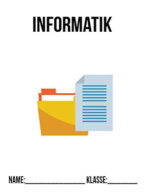 Hier kannst du dir jetzt dein gesuchtes Informatik Deckblatt PDF schnell und einfach erstellen und kostenlos ausdrucken. Mit deinem persönlichen Deckblatt für deine Hefter, Schulordner und Mappen bist du super organisiert und behältst stehst den Überblick.