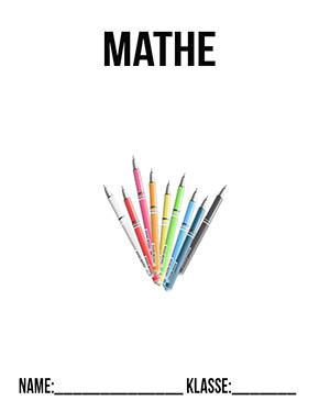 Hier kannst du dir jetzt dein gesuchtes Deckblatt Mathe Klasse 7 schnell und einfach erstellen und kostenlos ausdrucken. Mit deinem persönlichen Deckblatt für deine Hefter, Schulordner und Mappen bist du super organisiert und behältst stehst den Überblick.