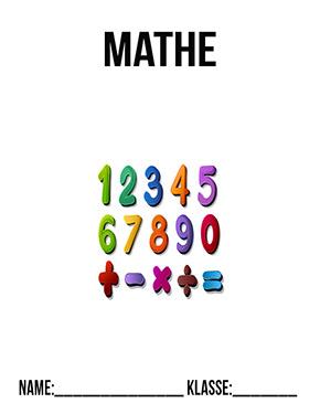 Hier kannst du dir jetzt dein gesuchtes Deckblatt Mathe Zahlen schnell und einfach erstellen und kostenlos ausdrucken. Mit deinem persönlichen Deckblatt für deine Hefter, Schulordner und Mappen bist du super organisiert und behältst stehst den Überblick.