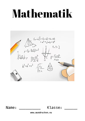 Hier kannst du dir jetzt dein gesuchtes Mathe Deckblatt Brüche schnell und einfach erstellen und kostenlos ausdrucken. Mit deinem persönlichen Deckblatt für deine Hefter, Schulordner und Mappen bist du super organisiert und behältst stehst den Überblick.