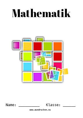 Mathematik Deckblatt Geometrie