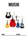 Musik Deckblatt Instrumente