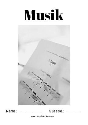 Musik Deckblatt Noten