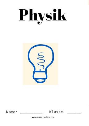 Physik Deckblatt Licht