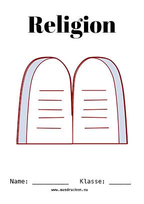 Religion Deckblatt Gebote