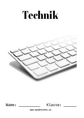 Technik Deckblatt Computer