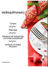 menükarten weihnachten | menükarten weihnachten ausdrucken von, Einladung