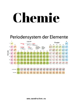 Chemie Deckblatt Periodensystem Zum Ausdrucken