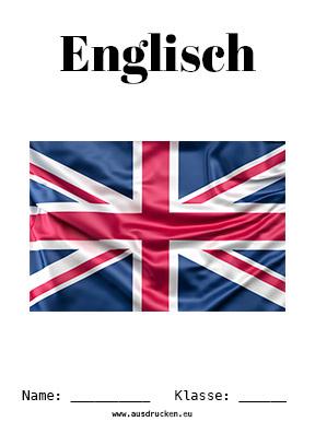 Englisch Deckblatt Flagge Zum Ausdrucken