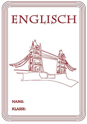 Nagelneu Englisch Deckblatt Für Die Schule Ma56 Startupjobsfa