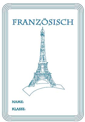 Deckblatt Französisch mit dem Eifelturm in Paris