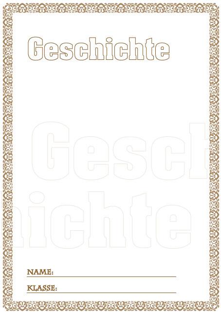 Deckblatt Geschichte mit Buchstaben