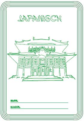 Deckblatt Japanisch mit einem japanischen Tempel