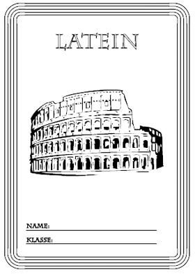 Deckblatt Latein mit Kolloseum in Rom