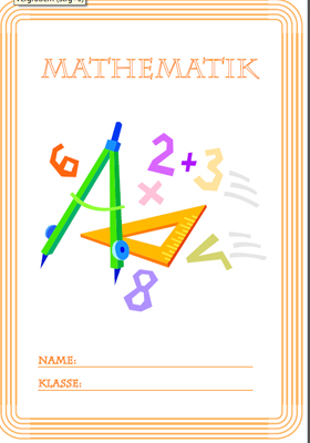 Deckblatt Mathe Ausdrucken