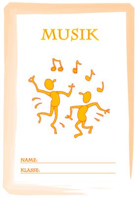 Deckblatt Musik Ausdrucken