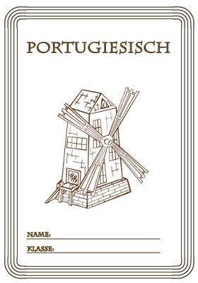 Deckblatt Portugisisch mit einer Windmühle