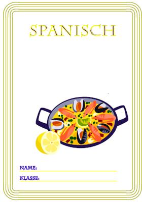 Deckblatt Spanisch Unterricht mit einer Paella