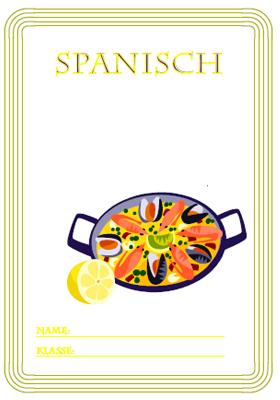 Deckblatt Spanisch mit einer Paella