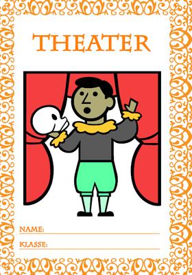 Deckblatt Theater mit einem Kind auf der Bühne