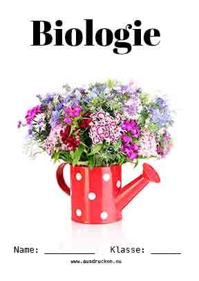Biologie Deckblatt Pflanzen