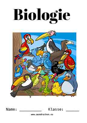 Biologie Deckblatt Vögel