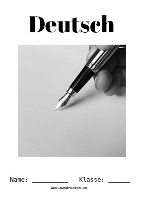 Deutsch Deckblatt Referat