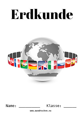 Erdkunde Deckblatt Kontinente