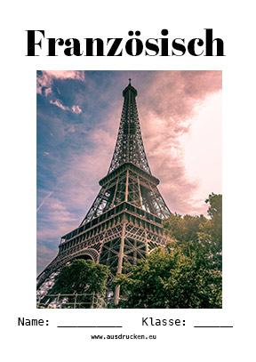 Französisch Deckblatt Eiffelturm